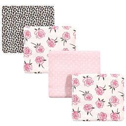 Little Treasure™ 4-Pack Roses Receiving Blanket in Pink