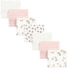 Hudson Baby 7-Pack Paris Flannel Receiving Blankets in Beige