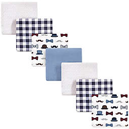 Little Treasure™ 7-Pack Fella Flannel Receiving Blankets in Blue
