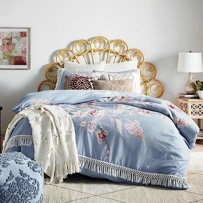 Alternate image 1 for Global Caravan Engineered Floral 3-Piece Duvet Cover Set