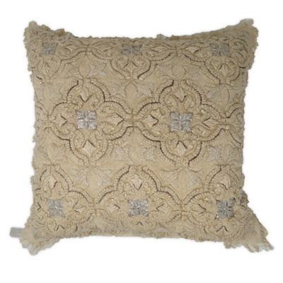 Medallion in Antique Gold Throw Pillow