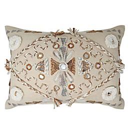 Global Caravan Panipat Diamond Oblong Throw Pillow