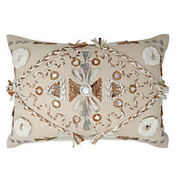 Global Caravan Panipat Diamond Oblong Throw Pillow
