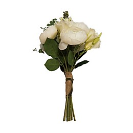 New York Botanical Garden® Katherine Small Faux Rose Bouquet in White