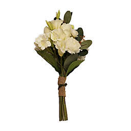 New York Botanical Garden® Charlotte Medium Faux Hydrangea Bouquet in White