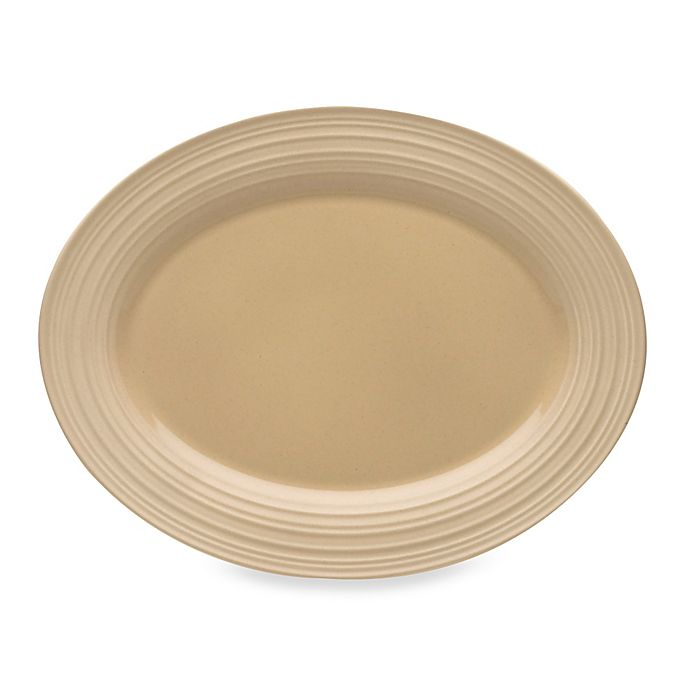 Alternate image 1 for Mikasa® Swirl Oval Platter in Tan