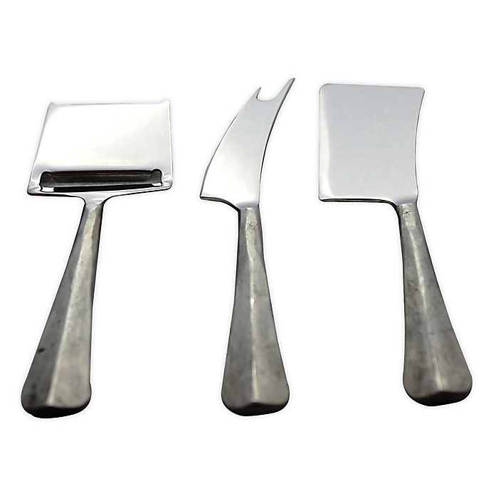 Alternate image 1 for INOX Artisans Ridge 3-Piece Cheese Knife Set in Steel
