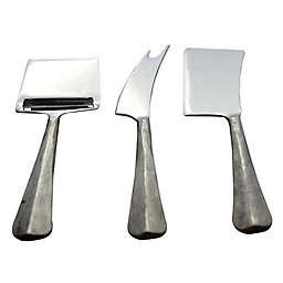 INOX Artisans Ridge 3-Piece Cheese Knife Set in Steel