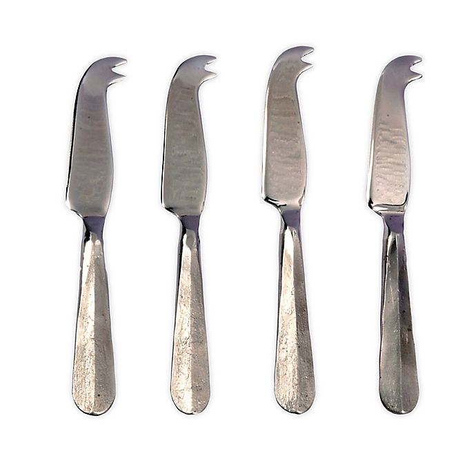 Alternate image 1 for INOX Artisans Ridge 4-Piece Mini Cheese Knife Set in Steel