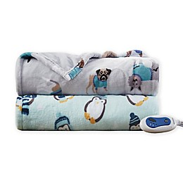 Beautyrest® Oversized Plush Printed Heated Throw