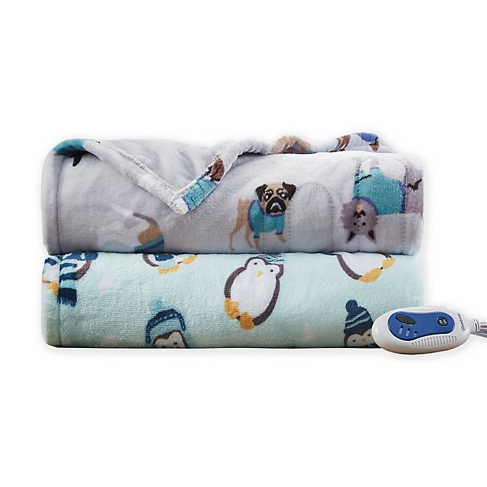 Alternate image 1 for Beautyrest® Oversized Plush Printed Heated Throw