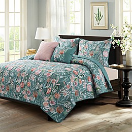 Sara B. 5-Piece Cactus Flower Quilt Set