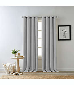 Cortina blackout Bee & Willow™ Home Hadley 2.41 m color gris claro