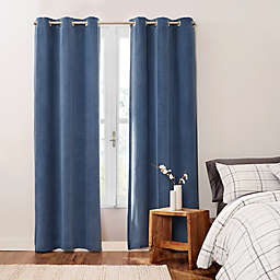 UGG® Cori 2-Pack 108-Inch Grommet 100% Blackout Corduroy Window Curtain Panels in Pacific Blue
