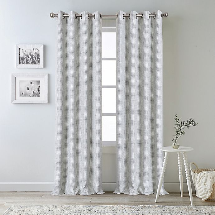 Alternate image 1 for Bee & Willow™ Oakdale 95-Inch Grommet 100% Blackout Curtain Panel in Grey (Single)