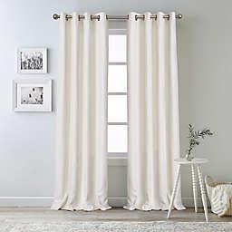 Bee & Willow™ Oakdale 84-Inch Grommet 100% Blackout Window Curtain Panel in Ivory