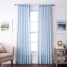 Coastal Life Denim Stripe Rod Pocket/Back Tab Light Filtering Window Curtain Panel