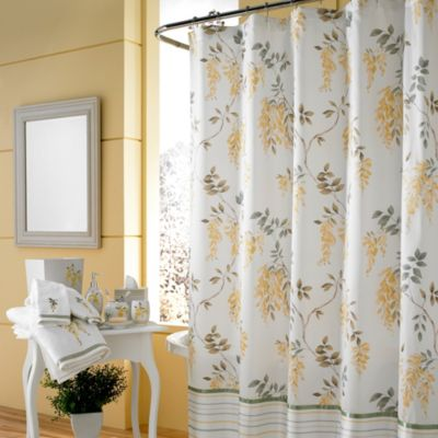 J Queen New YorkTM Citron Shower Curtain