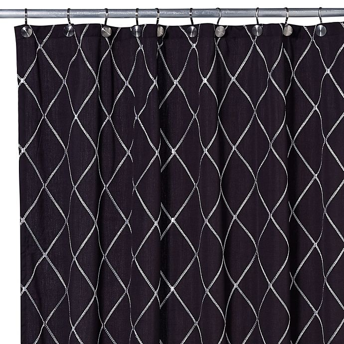 Wellington Shower Curtain In Black White