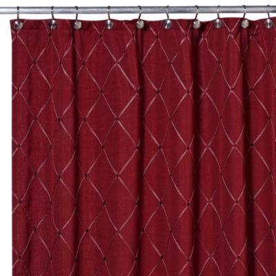 Wellington Shower Curtain In Wine