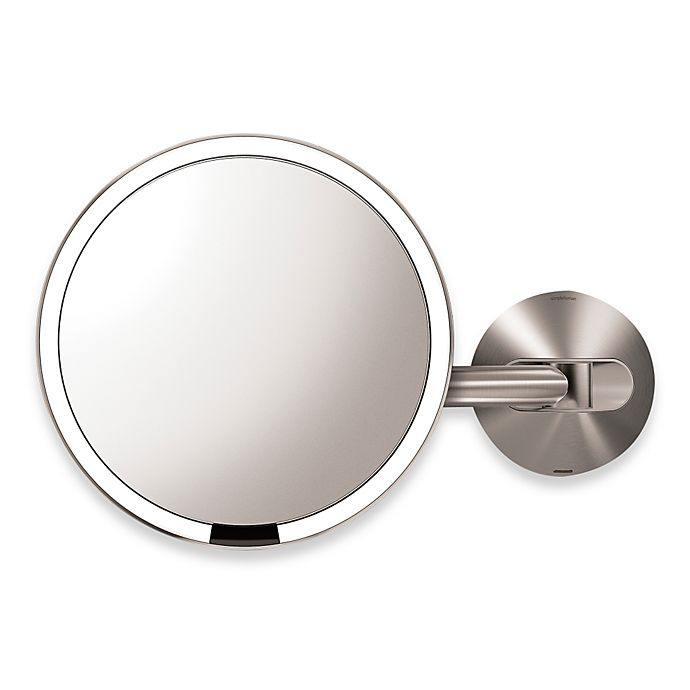 Alternate image 1 for simplehuman® 5X Sensor Wall-Mounted Mirror