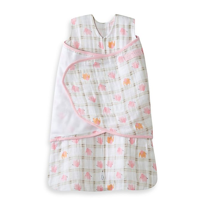 Alternate image 1 for HALO® SleepSack® Multi-Way Cotton Swaddle in Pink Elephant
