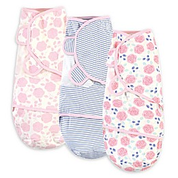 Touched by Nature Size 0-3M 3-Pack Rose Organic Cotton Swaddle Wraps in Pink