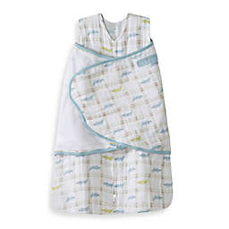 HALO® SleepSack® Multi-Way Muslin Cotton Swaddle in Blue Alligator