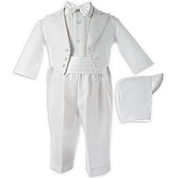 Lauren Madison Size 0-3M 5-Piece Christening Tuxedo Set in White