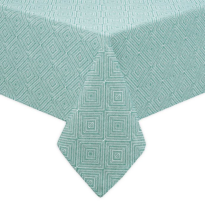 Alternate image 1 for Diamond Trellis Indoor/Outdoor Table Linen Collection
