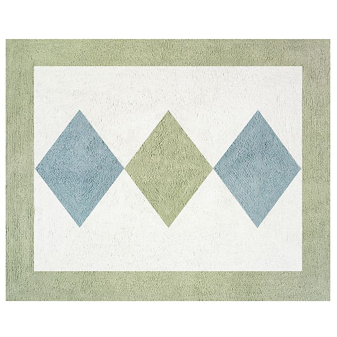 Alternate image 1 for Sweet Jojo Designs Argyle Floor Rug in Blue/Green