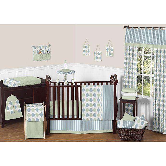 Alternate image 1 for Sweet Jojo Designs Argyle 11-Piece Crib Bedding Set in Blue/Green