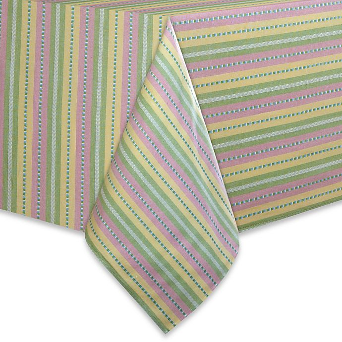 Alternate image 1 for Garden Stripe Tablecloth