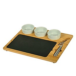 Picnic at Ascot 6-Piece Bamboo and Slate Serving Set