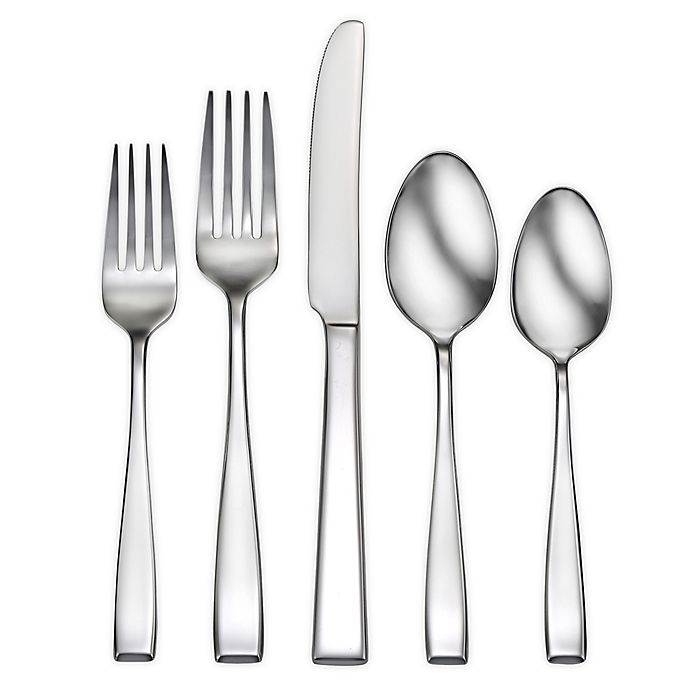 Alternate image 1 for Robinson® Delancey 62-Piece Stainless Steel Flatware Set