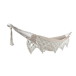 Bliss Hammocks 10-Foot Fringed Hammock-in-a-Bag in Natural