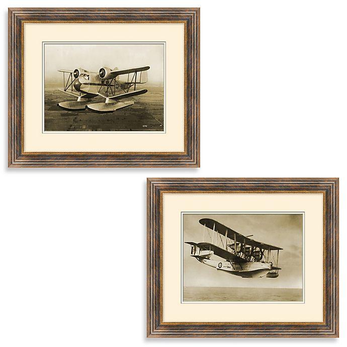 Alternate image 1 for Vintage Biplane Framed Art
