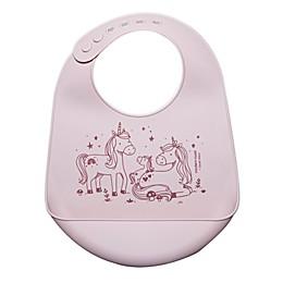 Modern Twist Unicorn Family Pocket Bib in Blush