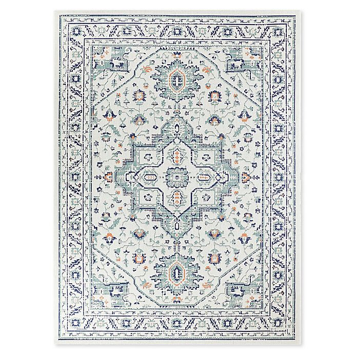 Alternate image 1 for Destination Summer Miami Border Indoor/Outdoor Rug in Aqua