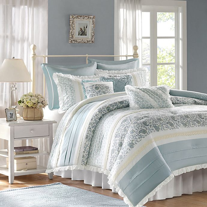 Alternate image 1 for The Madison Park Dawn Collection 9-Piece King Comforter Set