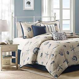 Madison Park Bayside 7-Piece Comforter Set in Blue
