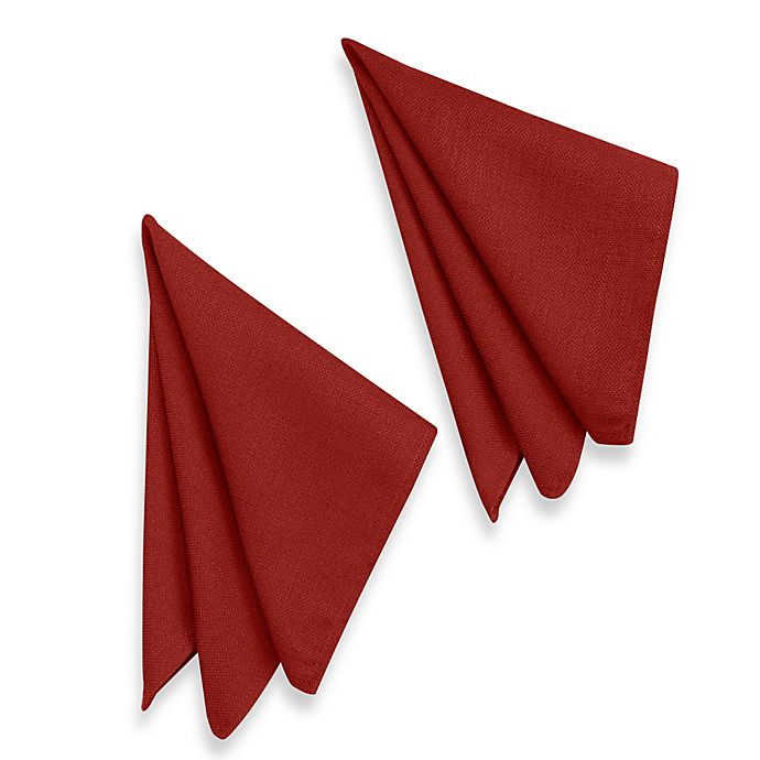 Alternate image 1 for Basketweave Napkins in Cherry (Set of 2)
