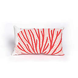 Liora Manne Coral Fan Oblong Indoor/Outdoor Throw Pillow