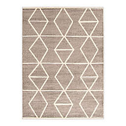 ECARPETGALLERY Ana 7'10 x 10'2 Indoor/Outdoor Area Rug in Grey/Ivory