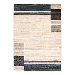 ECARPETGALLERY Ayla 7'10 x 10'2 Indoor/Outdoor Area Rug in Ivory/Blue