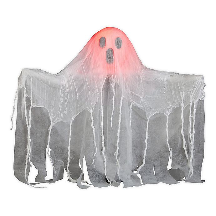 Alternate image 1 for Animated Pop-Up Ghost Halloween Decoration in White
