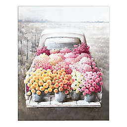 Flower Farm Truck 16x20 Canvas