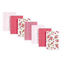 Hudson Baby® 7-Pack Flannel Berries Burp Cloths in Pink