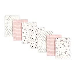 Hudson Baby® 7-Pack Paris Burp Cloths in Pink