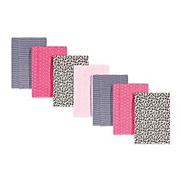 Hudson Baby® 7-Pack Leopard Burp Cloths in Pink